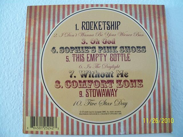 Colette CD Song List
