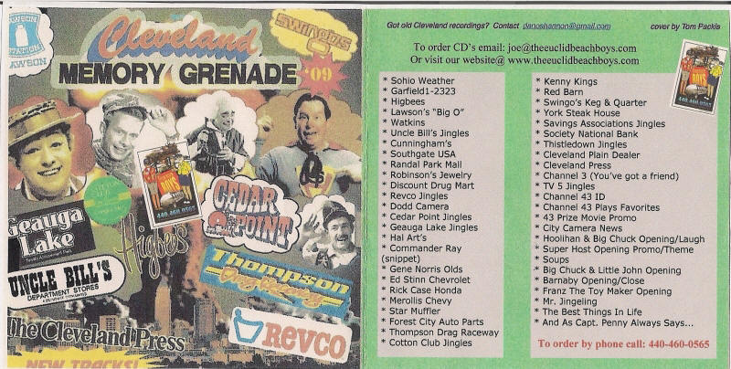 """This is the """"Cleveland Memory Grenade"""" as heard on WMJI's """"Lanigan & Malone"""" Show.  Great stocking stuffer too! $1.00 of each of these CD's will be donated directly to Jimmy Malone's Cleveland Now Scholarship Fund.  """"Let's all help the kids together"""". $10.95 + tax (Ohio) & shipping"""